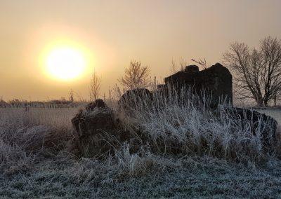 Zonsopkomst in mist 29 december 2016 - 2