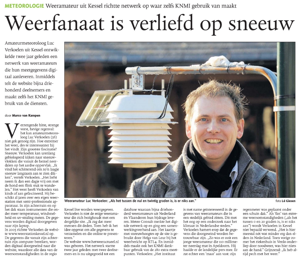 Artikel Dagblad de Limburger 25 januari 2010